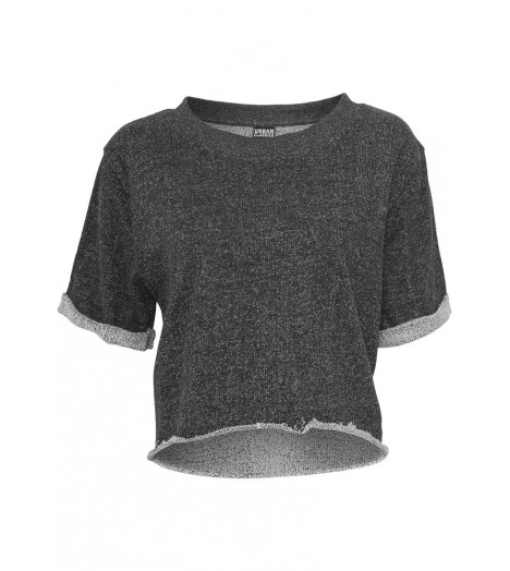T-shirt Ladies Short Sleeve Crew Urban Classics Noir - Gris