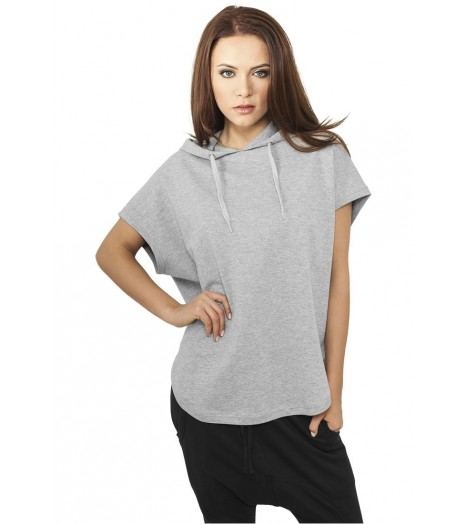 Sweat Capuche Long Urban Classics Gris