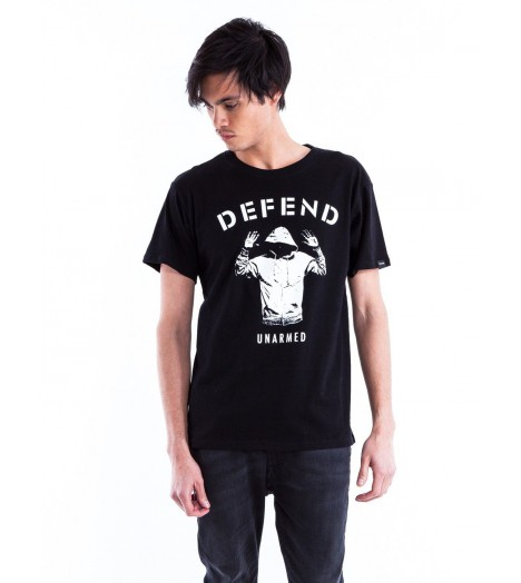 T-shirt Defend Unarmed Noir