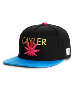 Casquette Cayler & Sons Logo Weed Noir Turquoise