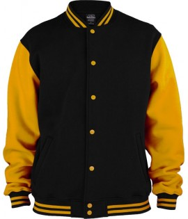Veste Teddy URBAN CLASSICS Kids Noir / Orange 2-Tone College