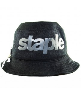 Bob Staple Stealth Bucket Hat Reversible Noir
