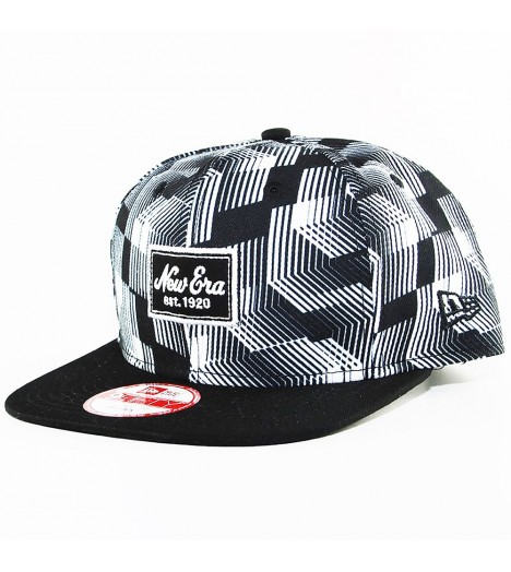 Casquette New Era Black & White Patch Noir - Blanc