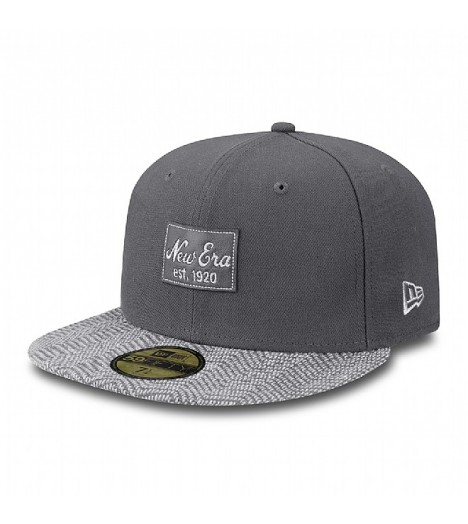 Casquette New Era Tribe Herringbone Visor Gris 59Fifty