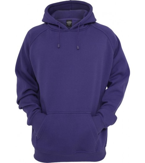Sweat à capuche URBAN CLASSICS large en molleton Violet