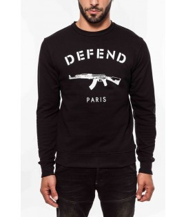 Sweat DEFEND PARIS Noir Ak47 Crewneck