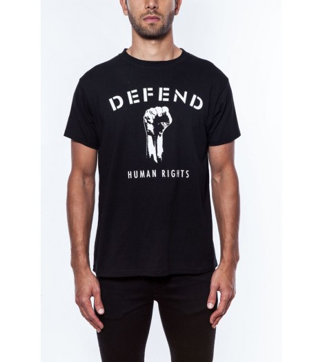 T-shirt DEFEND PARIS Noir Human Rights