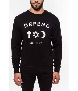 Sweat DEFEND PARIS Noir Coexist Crewneck