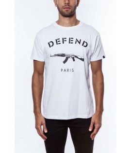 T-shirt DEFEND PARIS Blanc Ak47