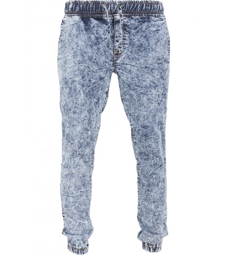 Pantalon Jogger Urban Classics Bleu Délavé Stretch Denim
