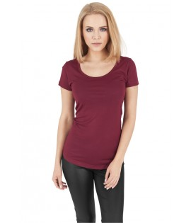 T-shirt Urban Classics Bordeaux Viscose