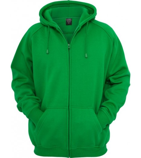 Sweat zippé URBAN CLASSICS large en molleton Vert