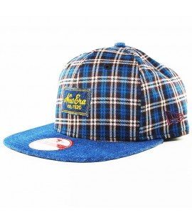 Casquette New Era Denim Plaid Patch Bleu