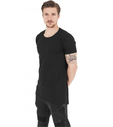 Tee-shirt Long Urban Classics Noir Back Shaped