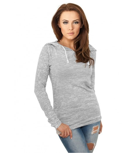 Sweat Capuche Urban Classics Tie Dye Burnout Gris