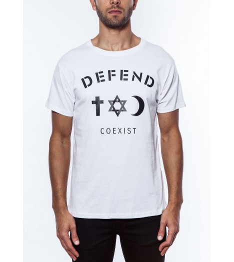 T-shirt Defend Coexist Blanc Paris