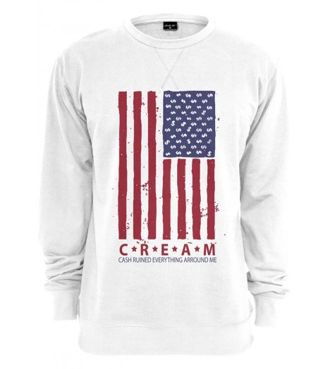 Sweat Mister Tee Cream Flag Crewneck Blanc