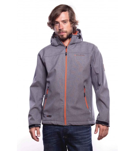 Veste MZGZ Immersion X-Land Gris Zip Thermique Orange