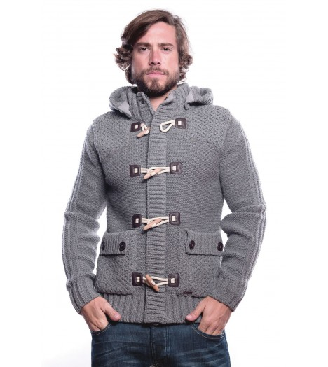 Pull Maille MZGZ Socrate Duffle Gris