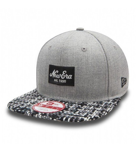 Casquette New Era Patch Knit Gris Clair