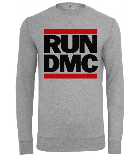 Sweat Run DMC x Mister Tee Logo Crewneck Gris