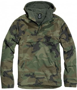Coupe-Vent Polaire Brandit Woodland Camouflage
