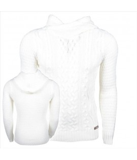 Pull Carisma Blanc Col montant