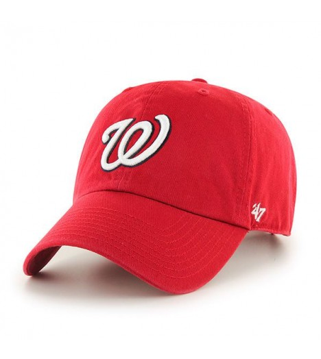 Casquette 47 Brand Washington Nationals Vintage Clean Up Rouge