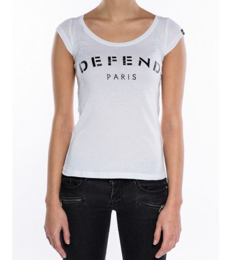 T-shirt Defend Tee Paris Femme Blanc