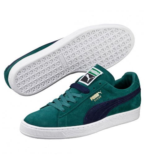 Chaussures Puma Suede Storm Peacoat Vert Turquoise
