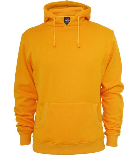 Sweat à capuche URBAN CLASSICS Basic décontracté Orange