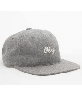 Casquette Obey SnapbackWalter Hat Gris Clair