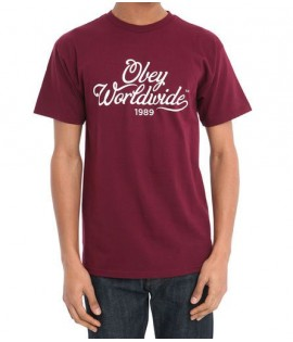 Tee-Shirt Obey Homebrew Rouge Bordeaux