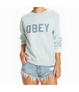 Sweat Crewneck Obey Waverly Bleu