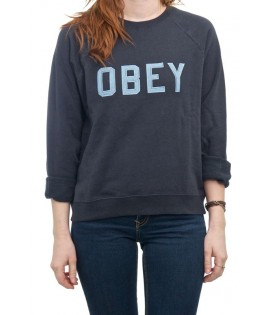 Sweat Crewneck Obey Waverly Bleu Marine