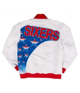 Veste Mitchell & Ness Philadelphia Sixers Authentic Warm Up 93-94 Hardwood Classics
