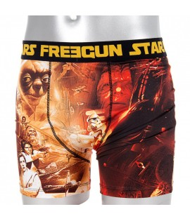 Boxer Enfant Star Wars x Freegun Yoda Chewbacca Or Premium Series