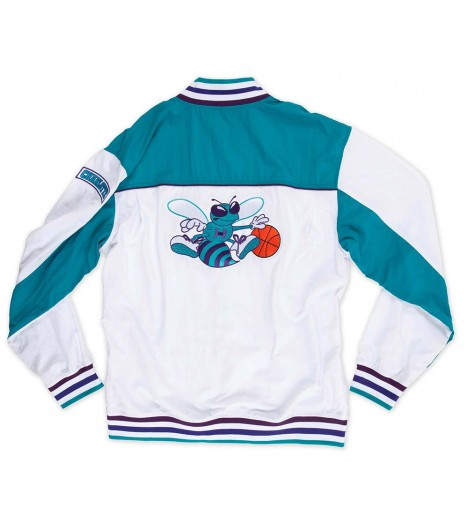 Veste Mitchell & Ness Charlotte Hornets Authentic Warm Up 92-93 Hardwood Classics
