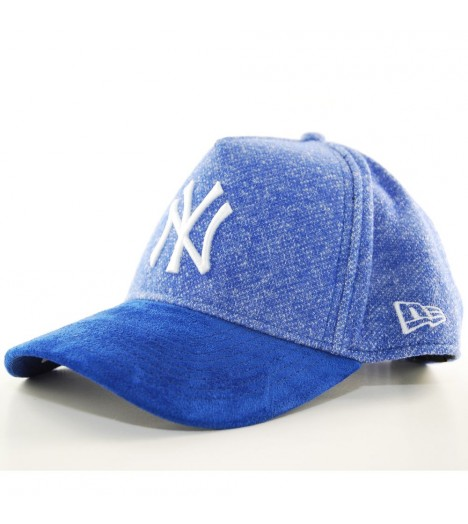 Casquette Trucker New Era NY Yankees Heather Suede Visor Bleu