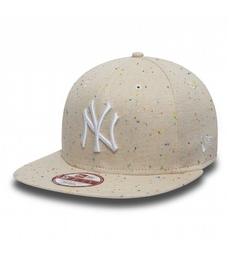 Casquette New Era NY Yankees Speckle Beige Snap 9Fifty