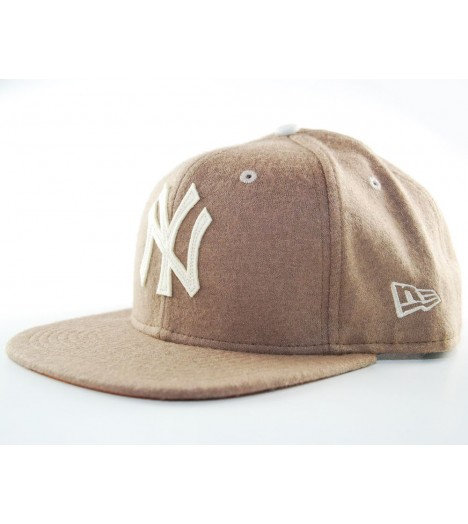 Casquette New Era NY Yankees Felt Wool Brun 9Fifty