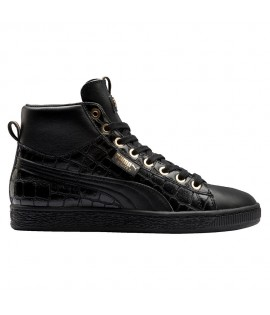Chaussures Puma Select Basket Mid Exotic Noir