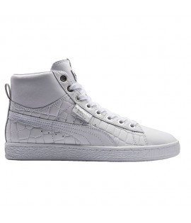 Chaussures Puma Select Basket Mid Exotic Blanc
