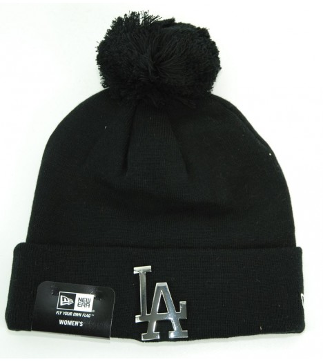 Bonnet Femme New Era Los Angeles Dodgers Pompon Noir - metal MetalCuff