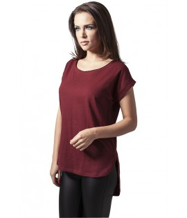 T-shirt Epaule Tombante Long Urban Classics Bordeaux