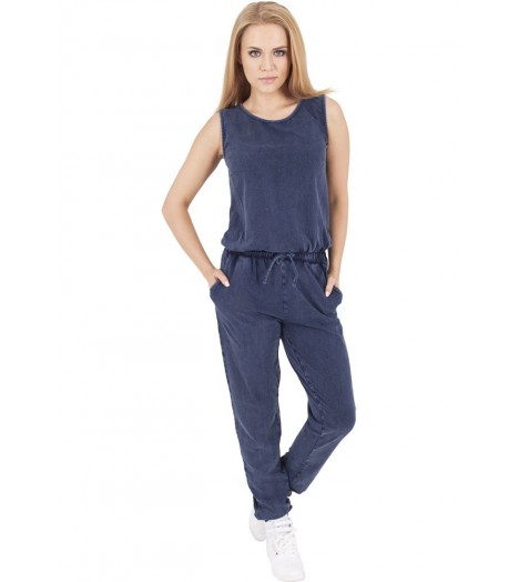 Ensemble Urban Classics Bleu Indigo Denim Combi Jumpsuit