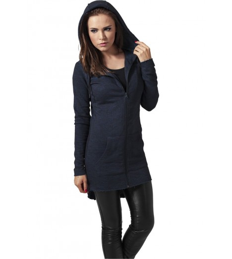 Sweat Parka Long Urban Classics Bleu Chiné