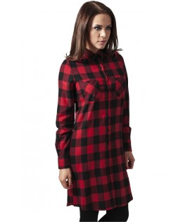 Robe Carreaux Urban Classics Noir Rouge Flanelle