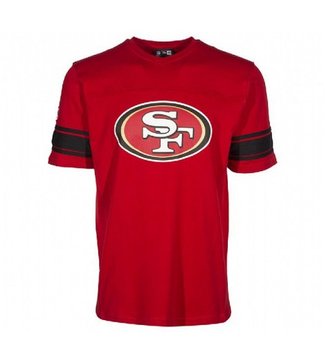 Maillot San Francisco 49ers New Era NFL Football US Rouge Jersey Coton