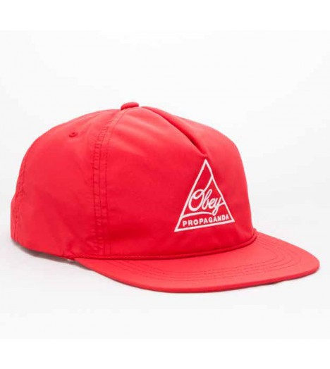 Casquette Obey Snapback Federation Rouge
